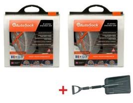 AutoSock AS540 (2 Sets) Snow Sock Set W/ Auto Emergency Shovel - $207.85