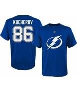 Tampa Bay Lightning Nikita Kucherov Boy's Youth Player Jersey T-Shirt - $11.95