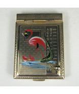 Flamingo Retro Telephone Phone Address Book Pop Up Gold Mini 2.5 inch Tr... - $54.44