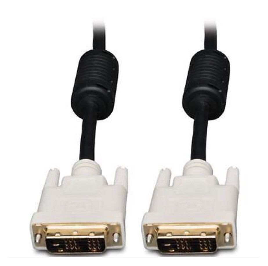 DVI 6ft Male to Male DVI-D Single Link 18+1 Pin Monitor Cable.                A5