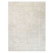 """9'x12'1"""" Beige Fine Jacquard Wool and Plant Based Silk Hand Loomed Rug G... - $1,839.20"""