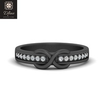 Infinity Band Gift For Her Natural Diamond Engagement Ring Eternity Band For Her - $1,069.99