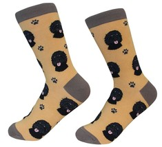 Labradoodle black Socks Unisex Dog Cotton/Poly One size fits most - $11.99