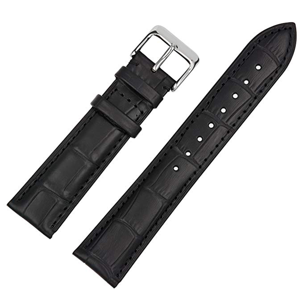 Primary image for 20mm Genuine Leather Watch Band Strap For CERTINA DS PODIUM Black