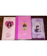 3 Vintage Barbie Collectors Edition Sweet Valentine, Holiday Elizabethan... - $54.95