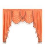 NAPEARL Polyester Thin Satin Curtain Valance Window Decoration Organge, ... - $28.94