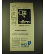 1960 Blue Shield Insurance Ad - By handling employees' bills directly - $14.99