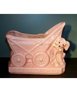Vintage McCoy Pottery What About Me? Baby Carriage And Puppy Dog Planter... - $39.55