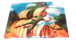 ✰ 3D lenticular postcard PETER PAN flying 1960s Disney unused vintage WC... - $5.99