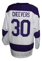 Custom Name # Cleveland Crusaders Hockey Jersey New White Cheevers Any Size image 2