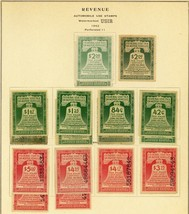 Motor Vehicle Use Stamp Collection, RV1//50, Mint & Used Cat $1700+ Stua... - $1,295.00