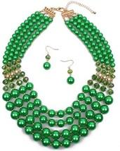 Shineland Elegant Multi-Strand Pearl Glass Crystal Cluster Collar Bib Ch... - $36.55