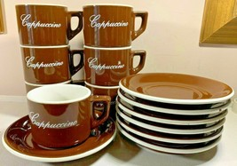ACF Italy 7 Sets of Cappuccino Cups And Saucers - 14 pieces. - £44.51 GBP
