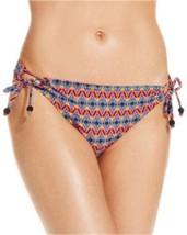 Jessica Simpson Bikini Bottom Sz S Black Multi Side Tie Swim Pant SSFO15706 - £11.71 GBP