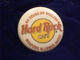 Music Pin Hard Rock Cafe Logo Button from the London Hard Rock - $6.00