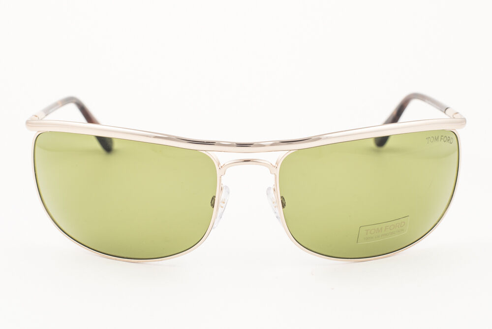 Tom Ford Ryder Rose Gold / Green Sunglasses TF418 28N