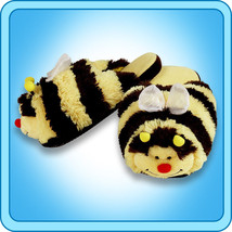 Pillow Pets Authentic Bumble Bee Slippers  Toy Gift - check size chart - $24.95