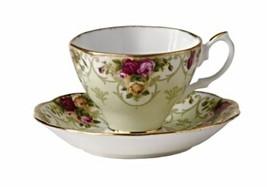 Royal Albert Tea Cup & Saucer , Rose Cameo PEACH NEW - $46.74