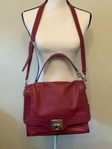 Cole Haan Magenta Fuchsia leather shoulder crossbody bag purse handbag Med size - $110.00