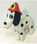 1975 Dream Pets Dakin Fire Dept Dog In Great Shape Cute Hat T2 - $26.24