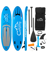 Camping Survivals 11' Adult Inflatable SUP Stand Up Paddle Board Blue an... - $265.99
