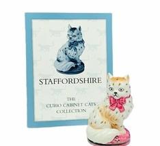Franklin mint Curio cabinet Cat figurine kitten COA sculpture Staffordsh... - £31.03 GBP