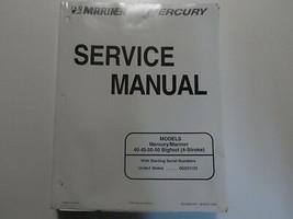 Mercury Mariner Außenborder Service Manuell 40 45 50 50 Bigfoot März Wasser - $25.68