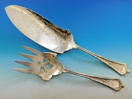 "Persian by Tiffany and Co Sterling Silver Fish Serving Set Engraved 12 3/8"" - $2,809.00"