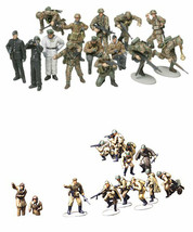 2 Tamiya WW2 Military Models - Russians with Tank Crew & German Panzer G... - $27.71