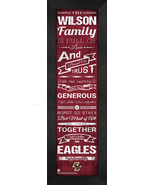 "Personalized Boston College Eagles ""Family Cheer"" 24 x 8 Framed Print - $39.95"