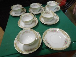 """Noritake """"Occupied Japan"""" M China- 5 Cups & Saucers Extra Cup & 2 Free Saucers - $52.38"""