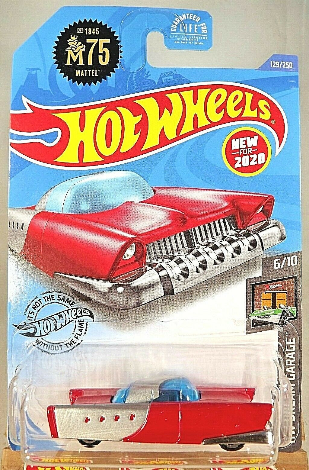 Primary image for 2020 Hot Wheels #129 HW Dream Garage 6/10 MATTEL DREAM MOBILE Red w/Chrome 5 Sp