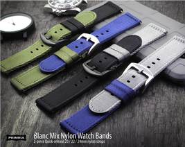PRIMRIA Blanc Mix 2-piece Quick-Release nylon watch strap band 20mm 22mm 24mm - $42.99