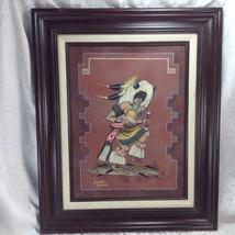 Lorenzo Stewart Sand Painting Original Framed Navajo Native American Art... - $125.13