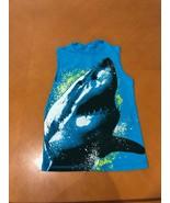 Boys Kids Faded Glory Blue SHARK Tank Top Shirt Size 6-7 100% Cotton - $4.94