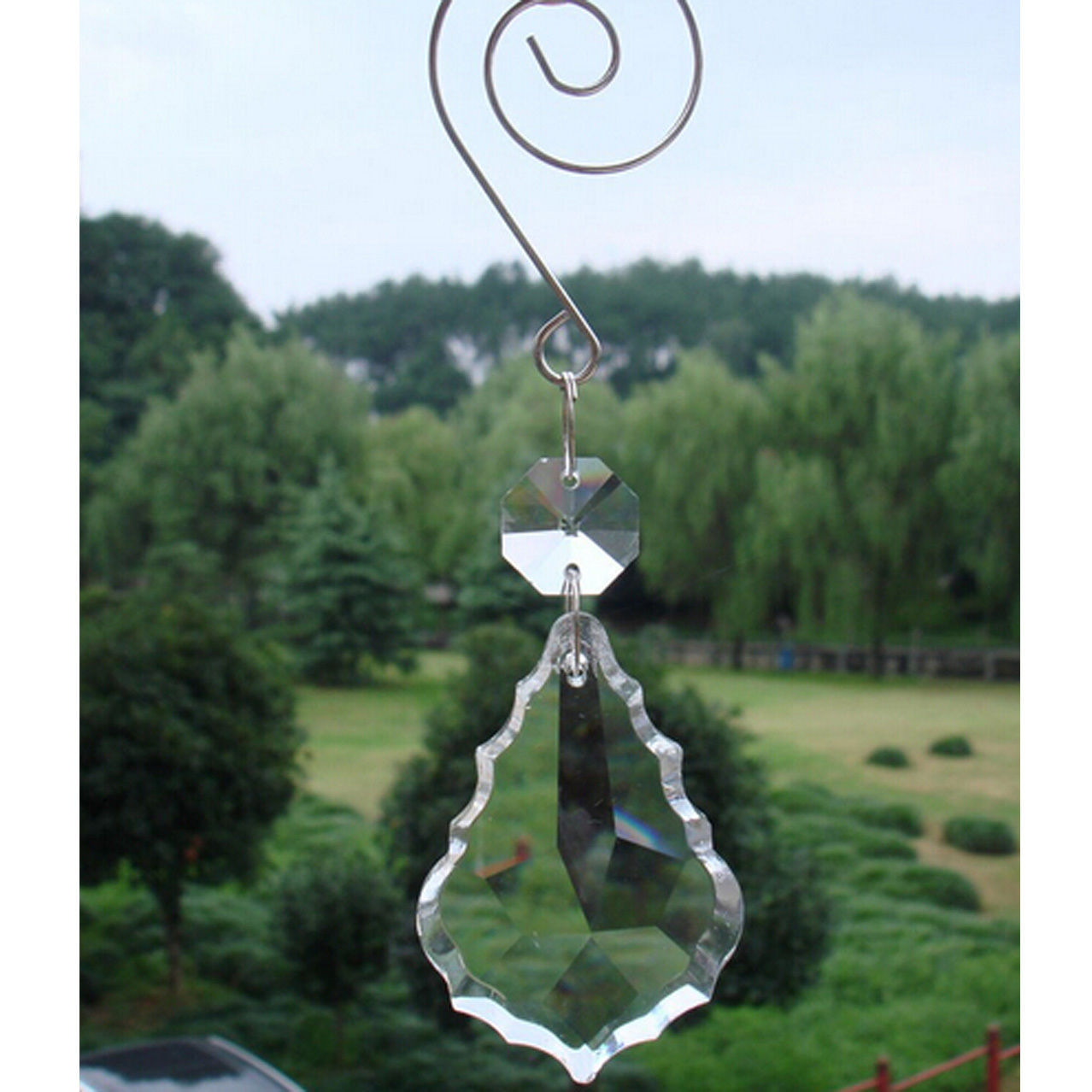 Set of 10pcs Crystal 38MM  Maple Leaf Decorative Drops Wedding Lamp Lighting DIY - $9.90