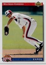 1992 Upper Deck Baseball Card, #16, Wilfredo Cordero, Montreal Expos, Ro... - $0.99