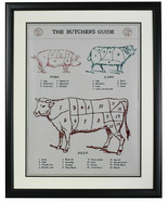 The Butcher's Guide Framed 18x24 Poster - $148.49