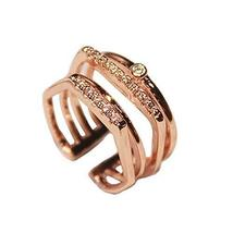 Ladies Accessories Concise Style Fashion Simple Wild Unique Clover Diamond Ring