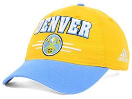 Denver Nuggets Adidas NBA 2 Tone Slouch Basketball Cap Hat Adjustable - $18.99