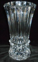 "1998-2003 Mikasa Crystal Rainier Pattern 10 1/4"" Vase Great Design! - $89.09"