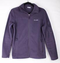 Columbia womens fleece jacket full zip long sleeve polyester purple size S - $19.98