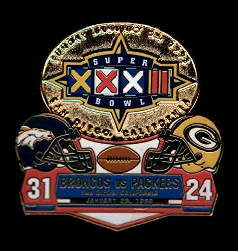 Primary image for Broncos vs. Packers Super Bowl 32 Final Score Pin Willabee & Ward SB XXXII
