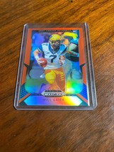 2019 Panini Prizm Football Draft Picks Will Grier Rookie Orange Refracto... - $0.95