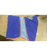 New Nike Unisex All Sports Shorts Purple Orange trim Sz L Design - $20.00