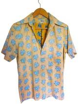 Vtg Orange Maple Leaf Hawaiian Shirt Reyn Spooner Hawaiian Traditions Cotton Med - $29.21