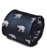 Frederick Thomas Navy Blue Mens Tie with polar bear pattern FT1519 RRP £... - $15.47