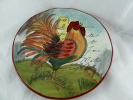 "Susan Winget Le Rooster Large Serving Bowl 8.75"" Certified International - $15.83"