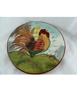 "Susan Winget Le Rooster Large Serving Bowl 8.75"" Certified International - $15.83"