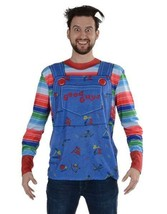 Faux Real Chucky Sublimated Photorealistic Adult Halloween Costume Shirt... - £29.06 GBP